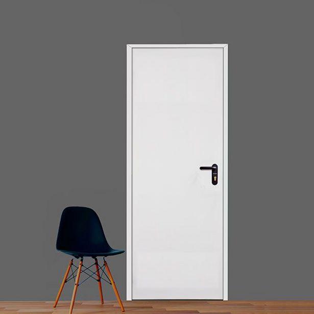 Oferta de Puerta multiusos lacada blanca izquierda 210 x 80 cm por 65€