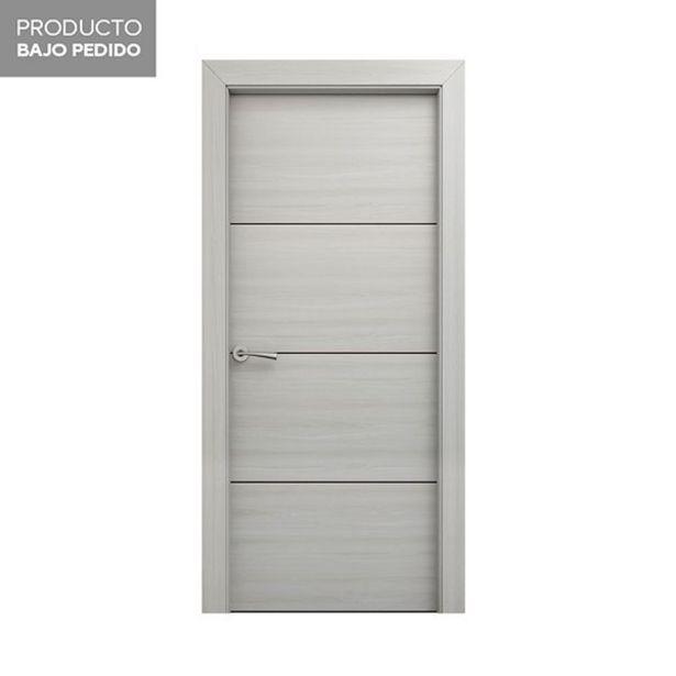 Oferta de Puerta Hércules blanco decapé derecha 203 x 72,5 cm por 115€