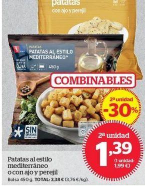 Oferta de Patatas al estilo mediterráneo o con ajo y perejil por 1,47€