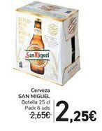 Oferta de Cerveza SAN MIGUEL  por 2,25€