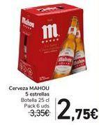 Oferta de Cerveza MAHOU 5 Estrellas  por 2,75€