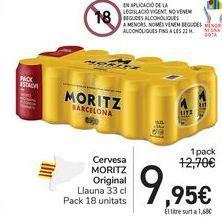 Oferta de Cervesa MORITZ Original por 9,95€