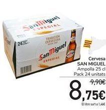 Oferta de Cervesa SAN MIGUEL por 8,75€