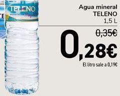Oferta de Agua mineral TELENO por 0,28€