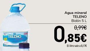 Oferta de Agua mineral TELENO por 0,85€