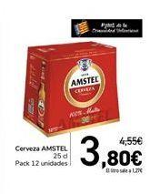 Oferta de Cerveza AMSTEL  por 3,8€