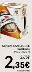 Oferta de Cerveza SAN MIGUEL por 2,35€