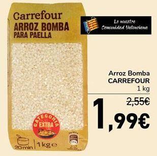 Oferta de Arroz Bomba CARREFOUR por 1,99€