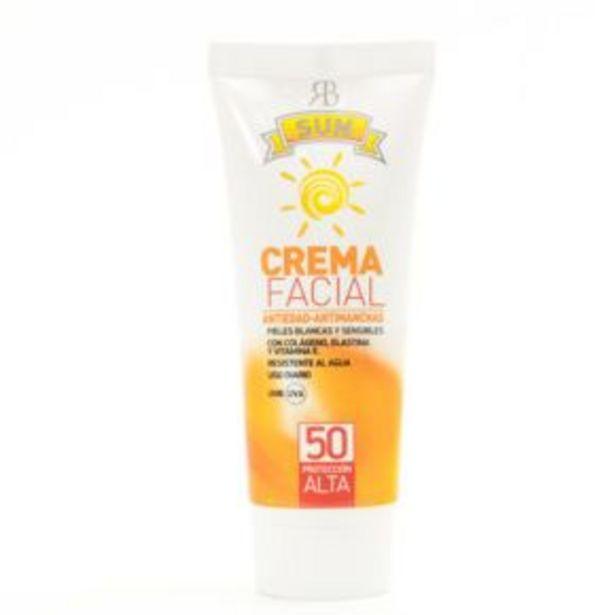 Oferta de Crema Facial Solar Antimanchas SPF 50 por 13,5€