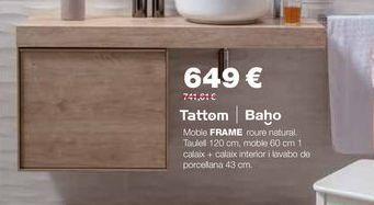 Oferta de Muebles de baño por 649€