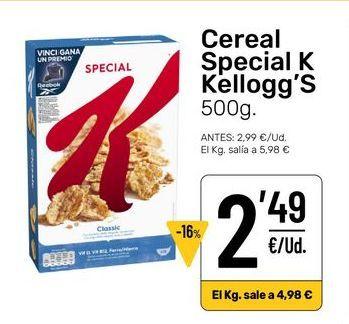 Oferta de Cereales Special K por 2,49€