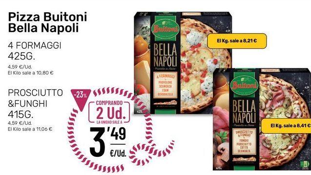 Oferta de Pizza congelada Buitoni Bella Napoli por 3,49€