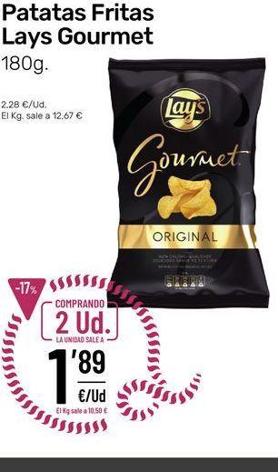 Oferta de Patatas fritas Lay's Gourmet por 1,89€