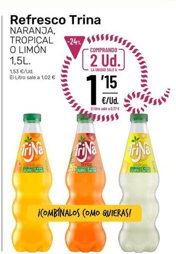 Oferta de Refrescos Trina por 1,15€