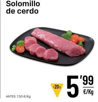 Oferta de Solomillo de cerdo por 5,99€