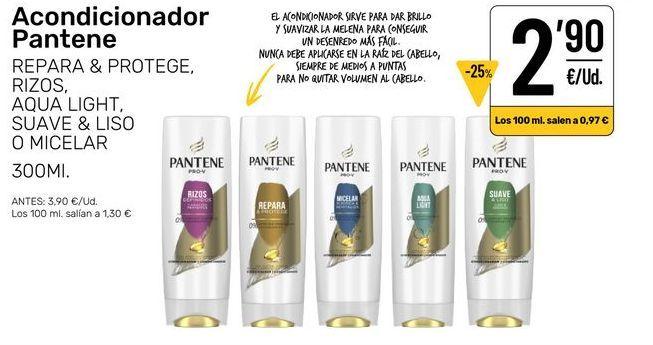 Oferta de Acondicionador pelo Pantene por 2,9€