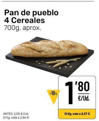 Oferta de Pan de pueblo 4 cereales por 1,8€