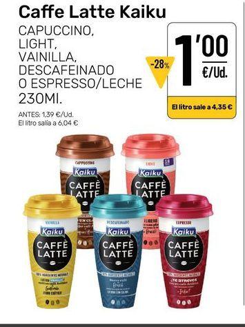 Oferta de Caffé  Latte Kaiku por 1€