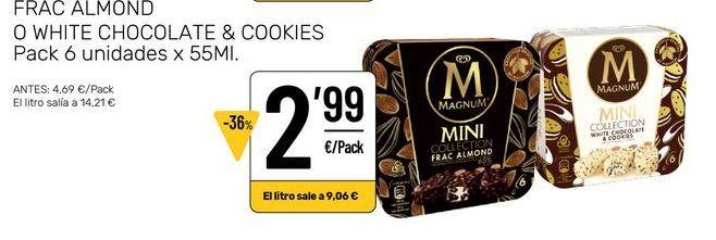 Oferta de Helados Magnum Mini por 2,99€