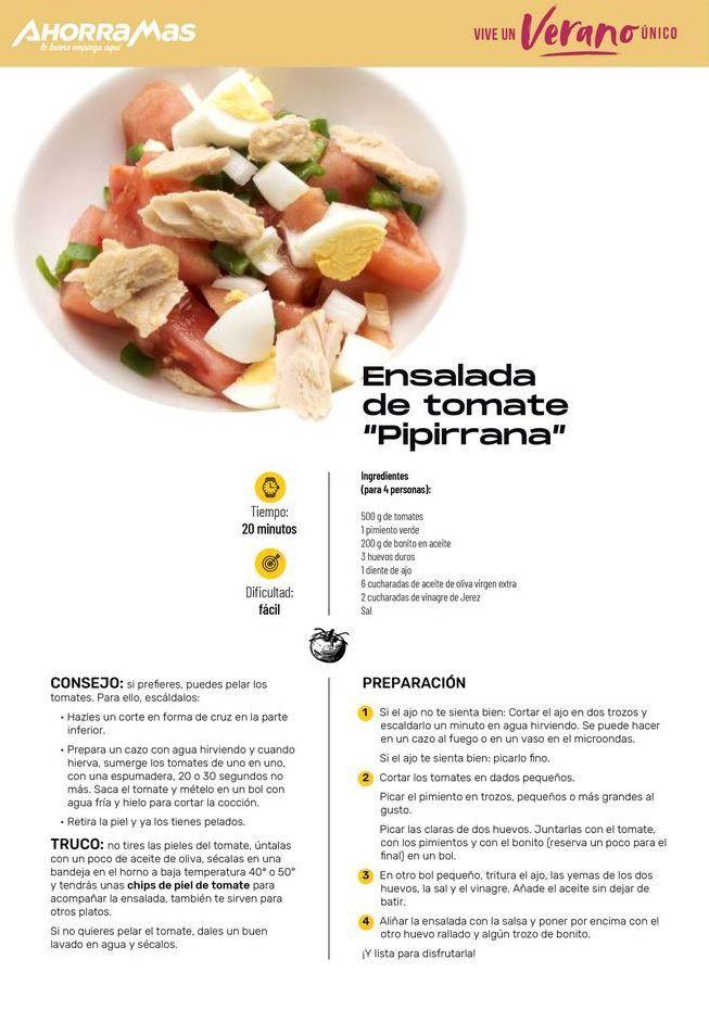 "Oferta de Ensalada de tomatae ""Pipirrana"" por"