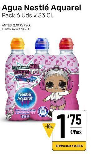 Oferta de Agua Aquarel nestlé por 1,75€