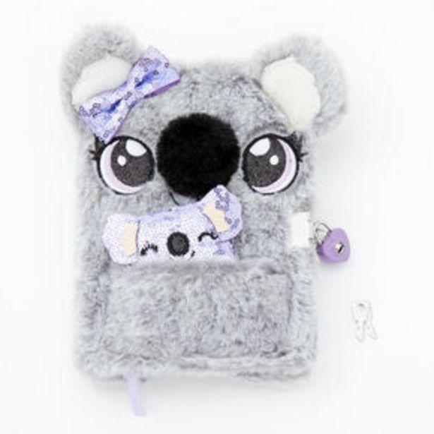 Oferta de Sidney the Koala Furry Lock Diary - Gray por 8,4€