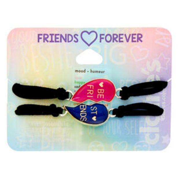 Oferta de Mood Heart Stretch Friendship Bracelets - 2 Pack por 3,6€