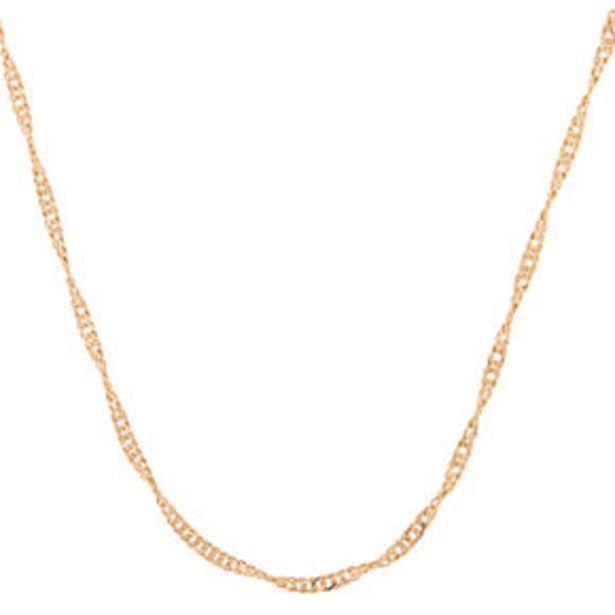 Oferta de Gold Twisted Chain Necklace por 2,25€