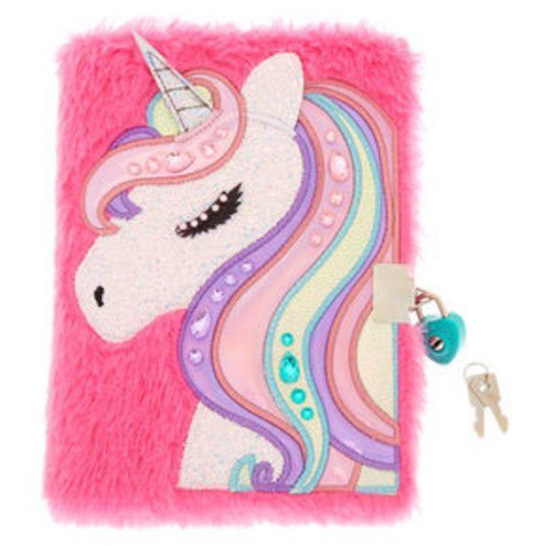 Oferta de Miss Glitter the Unicorn Soft Lock Notebook - Pink por 7,2€