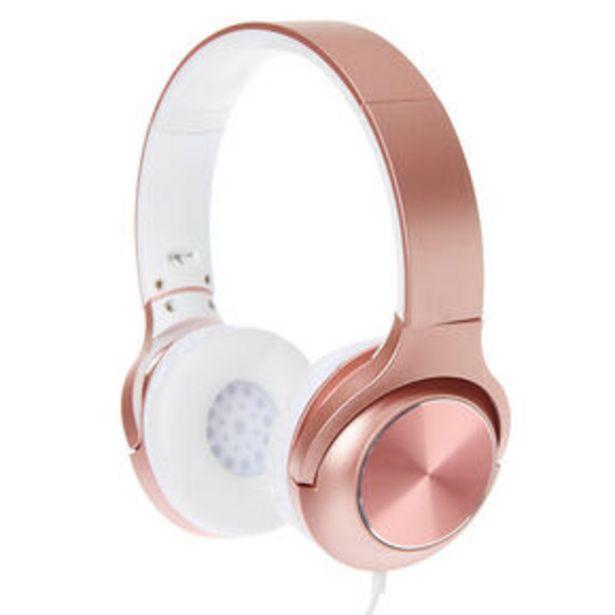Oferta de Metallic Headphones - Rose Gold por 15€