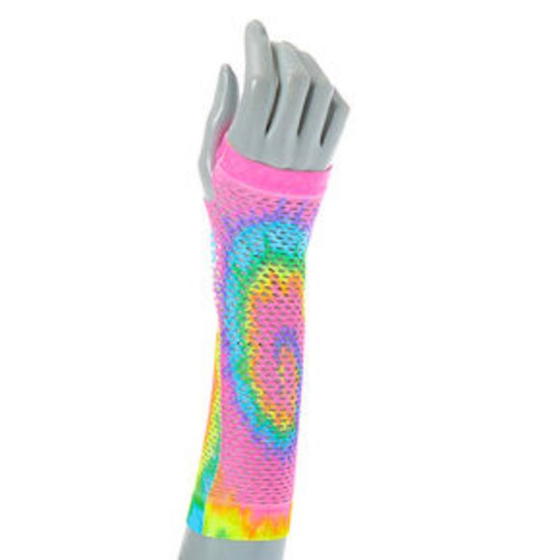 Oferta de Pastel Tie Dye Fishnet Arm Warmers por 2,25€