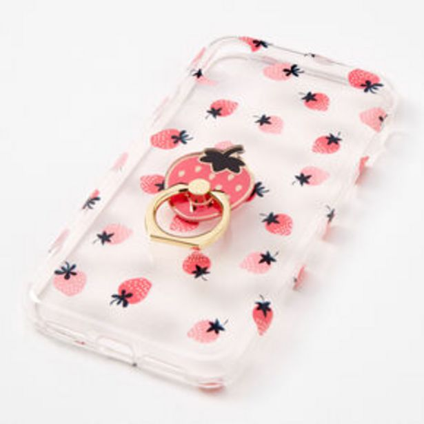 Oferta de Strawberry Ring Holder Protective Phone Case - Fits iPhone® XR por 2,25€
