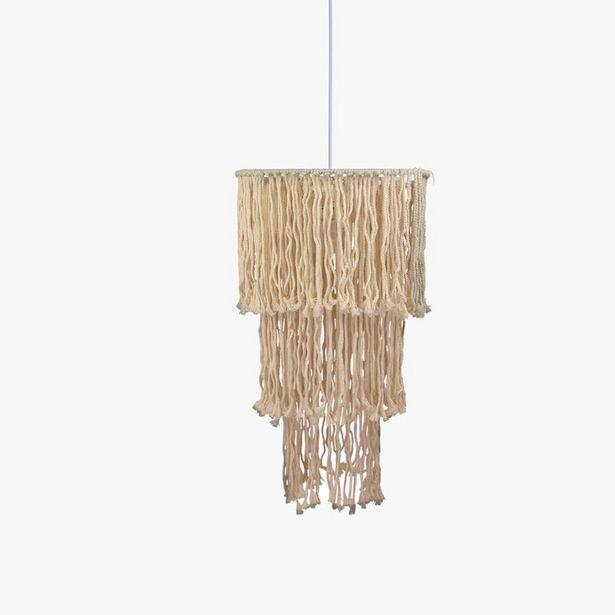 Oferta de Lámpara de Techo Macramé d40x147 cm por 39,99€