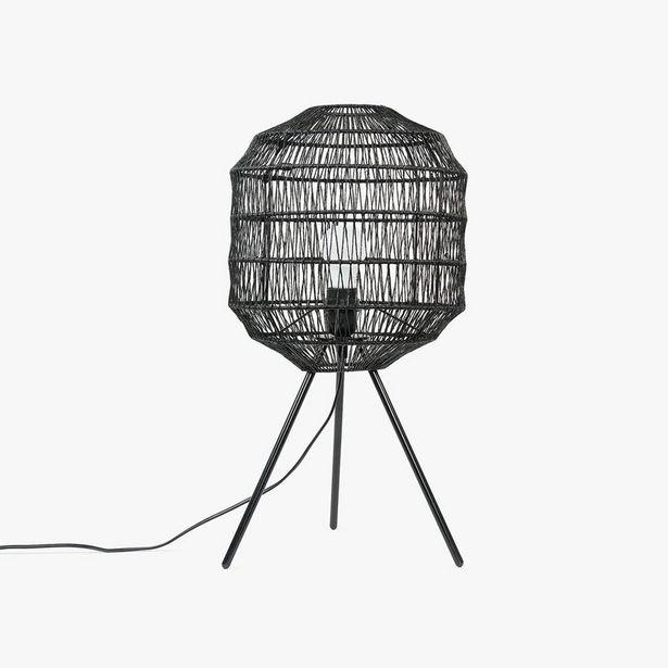 Oferta de Lámpara de Mesa Phuket Negro por 69,99€