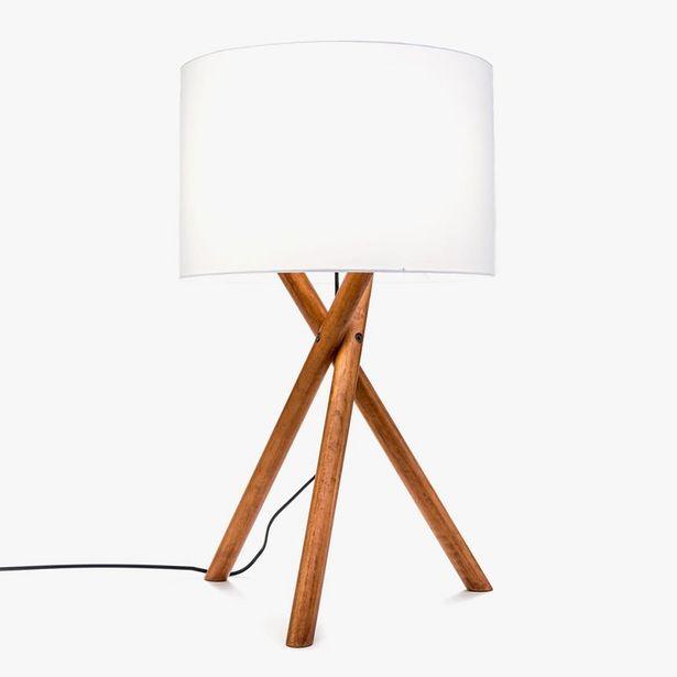 Oferta de Lámpara de Mesa Hanger Trípode Acacia D: 38x66cm por 59,99€