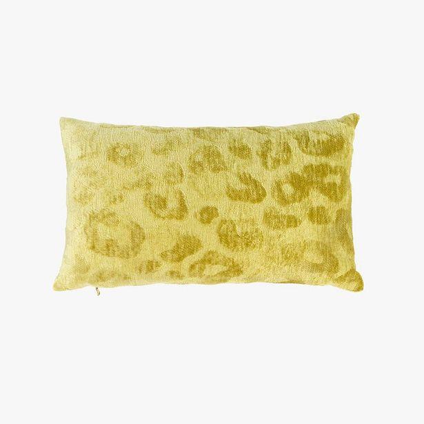 Oferta de Funda Cojín Jungle fever Leopardo Amarillo 30x50 cm por 12,99€