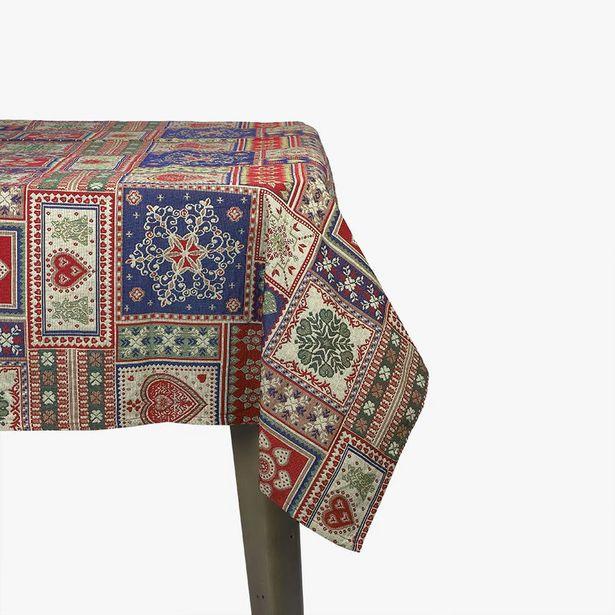 Oferta de Mantel Corazones Rojo 160x250 cm por 39,99€