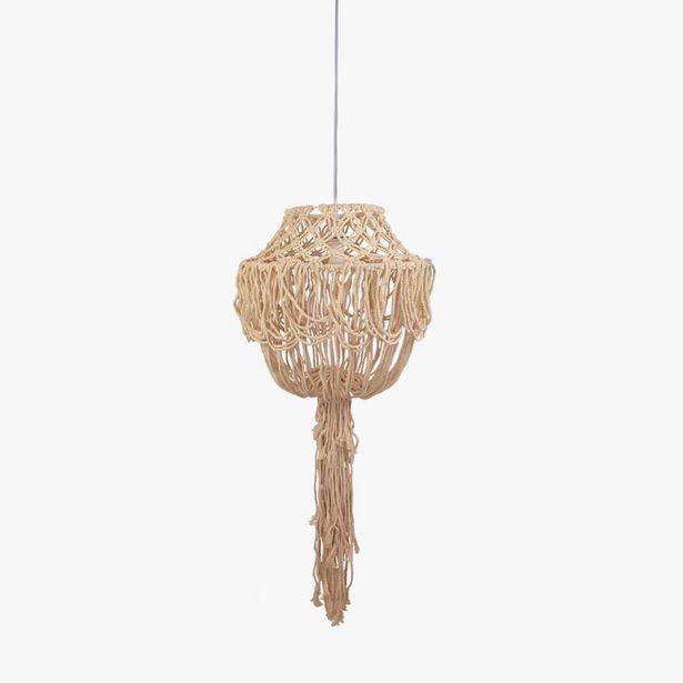 Oferta de Lámpara de Techo Macramé d41x201 cm por 39,99€
