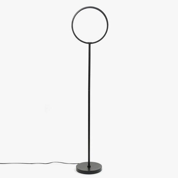 Oferta de Lámpara de Pie Circle Negro LED por 119,99€