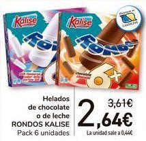 Oferta de Helados de chocolate o de leche RONDOS KALISE  por 2,64€