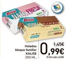 Oferta de Helados bloque familiar KALISE  por 0,99€