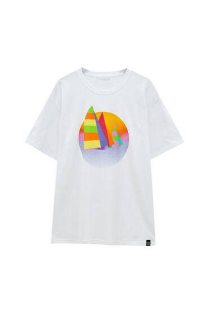 Oferta de Camiseta ilustración barcos por 5,99€