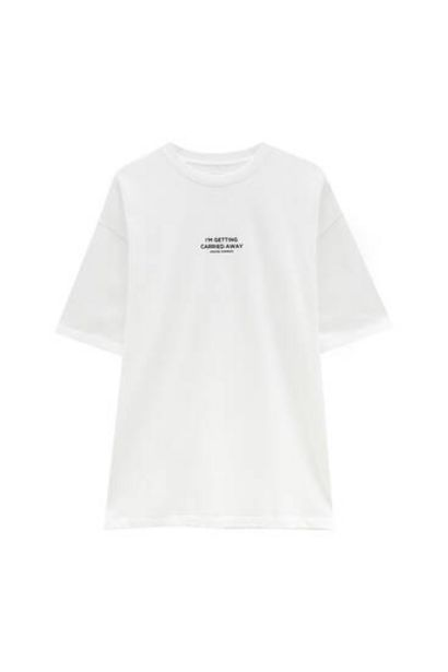 Oferta de Camiseta felpa blanca por 7,99€