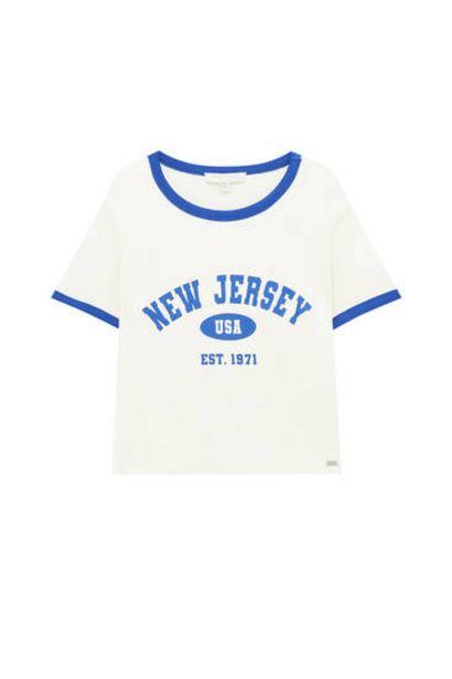 Oferta de Camiseta college rib contraste por 9,99€