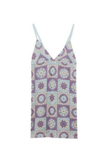 Oferta de Vestido crochet tirantes por 9,99€