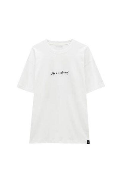 Oferta de Camiseta blanca ilustración espalda por 12,99€