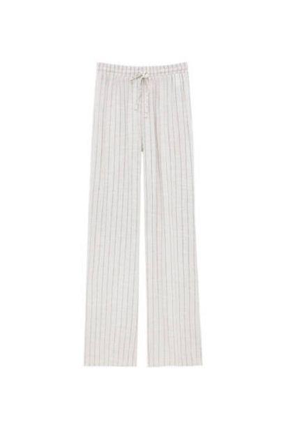 Oferta de Pantalón fluido rayas rústico por 22,99€