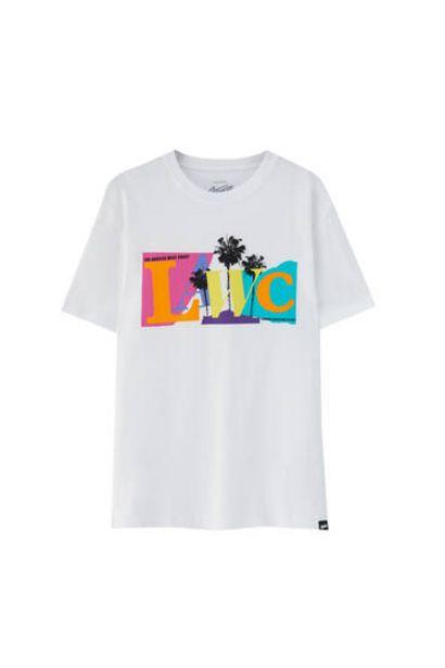 Oferta de Camiseta blanca Lawc por 5,99€