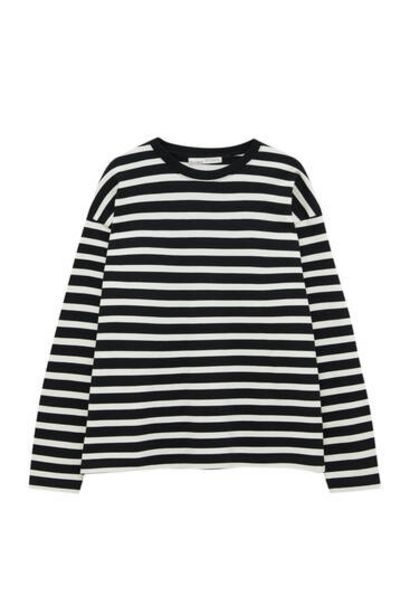 Oferta de Camiseta rayas manga larga por 17,99€