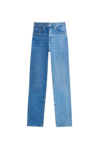 Oferta de Jeans color block rectos por 29,99€